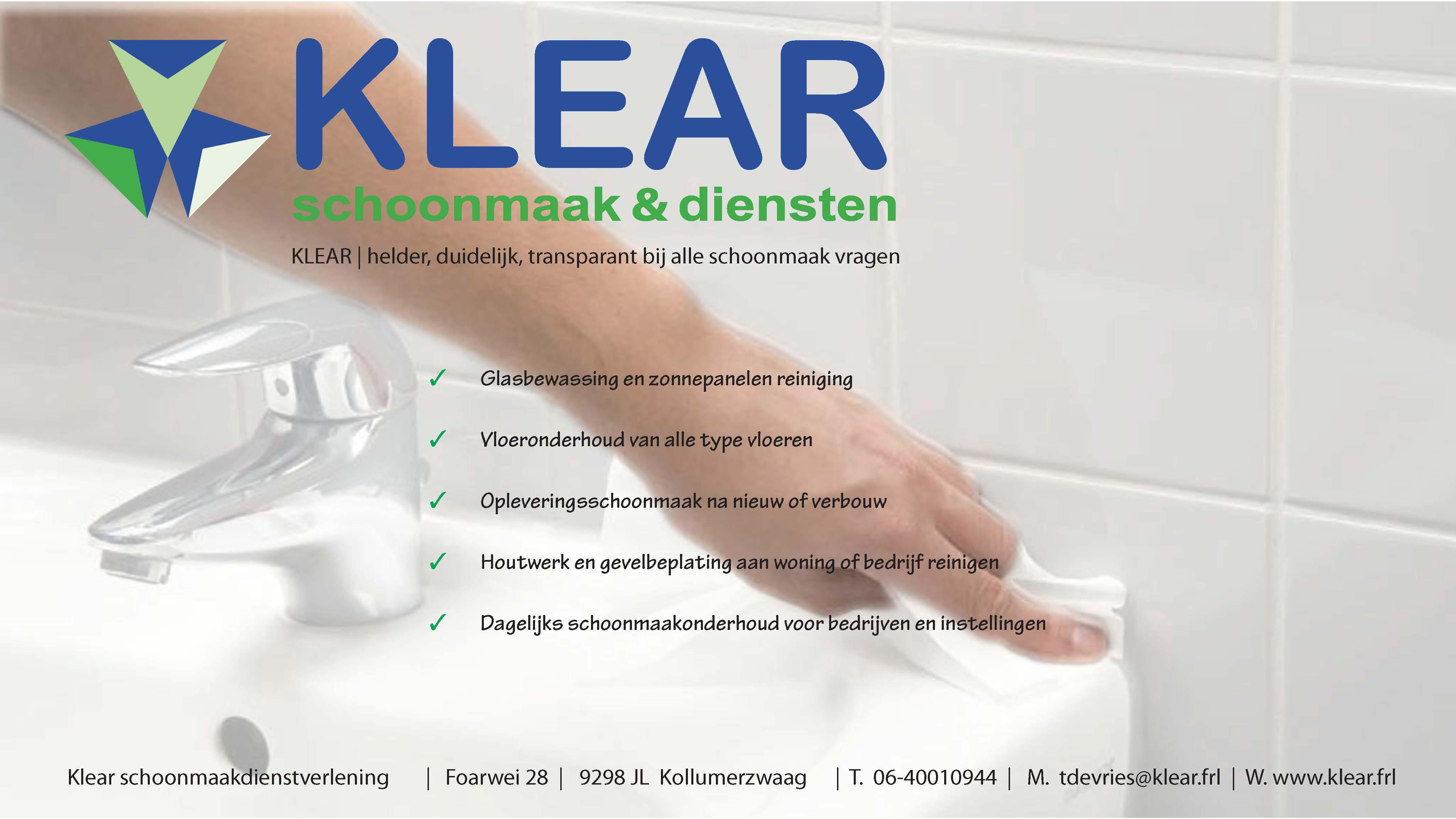 KLEAR – Schoonmaakdienstverlening